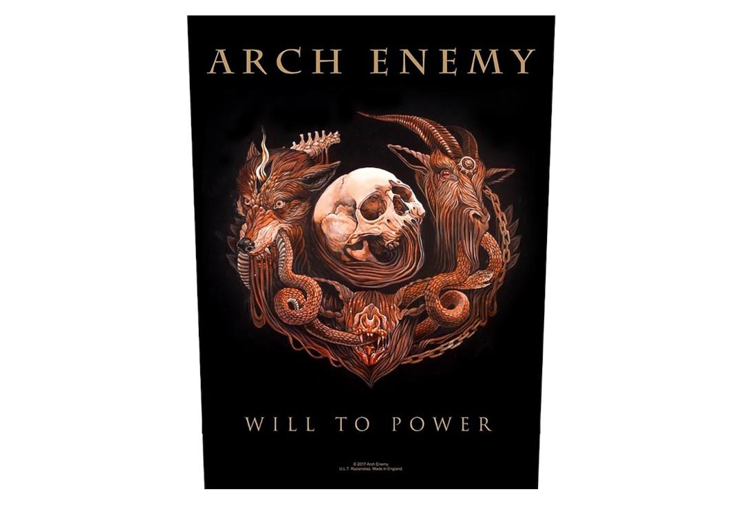 Official Band Merch | Arch Enemy - Will To Power Printed Back Patch
