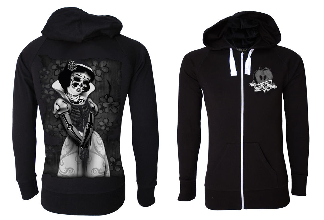 Darkside | Snow White Skele Lightweight Cotton Unisex Zip Hood