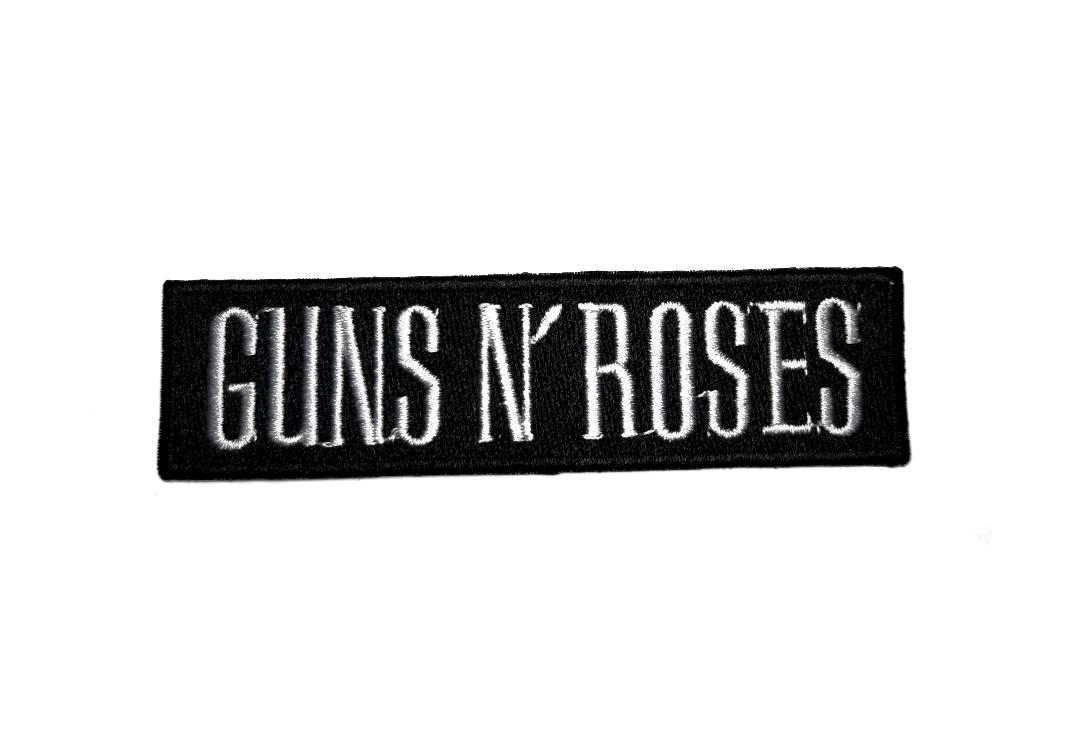 Official Band Merch | Guns N' Roses - White Text Logo Woven Patch