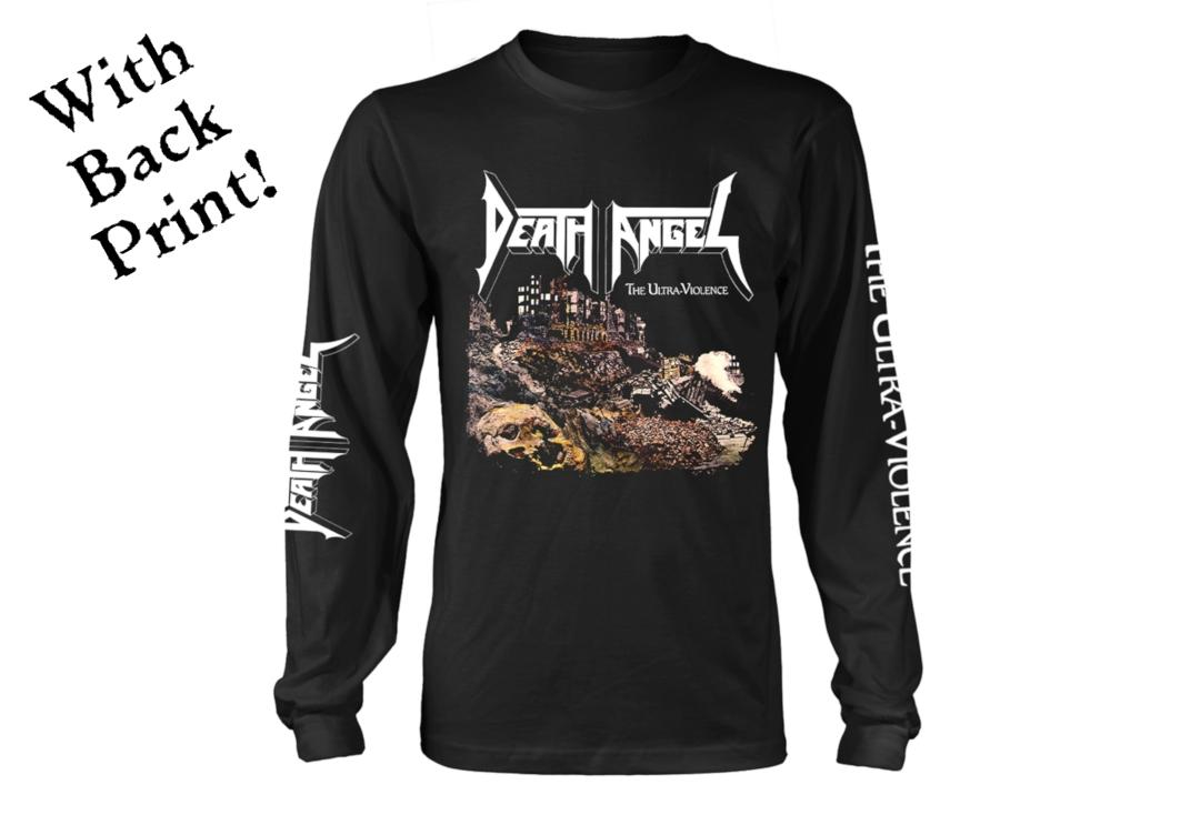 Official Band Merch | Death Angel - The Ultra-Violence Men's Official Long Sleeve T-Shirt - Front