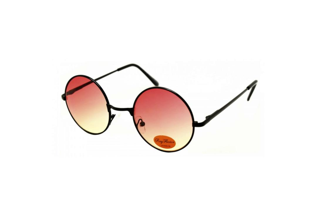 RayFlector | Red Fade Round Lennon Sunglasses