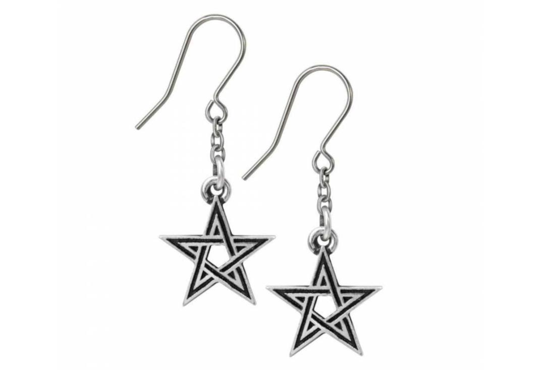 Alchemy Gothic | Black Star Earrings