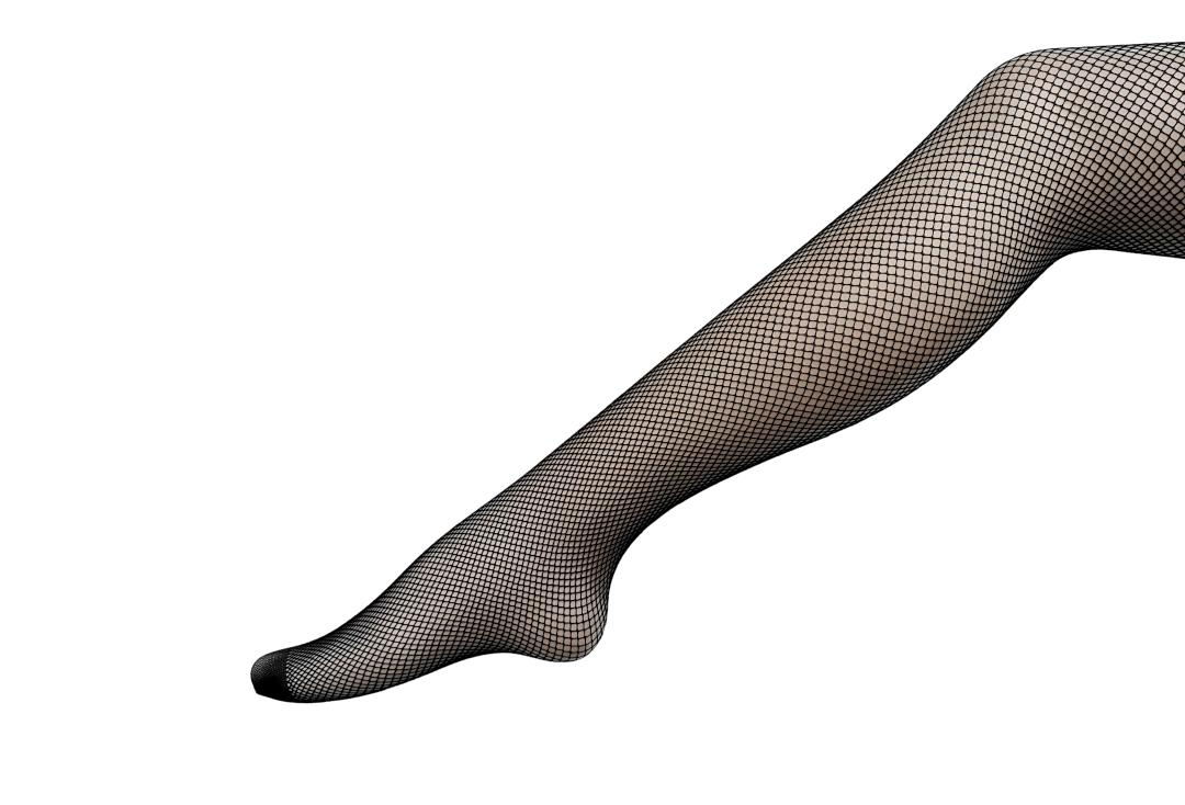 Silky | Plain Black Fishnet Tights - Main