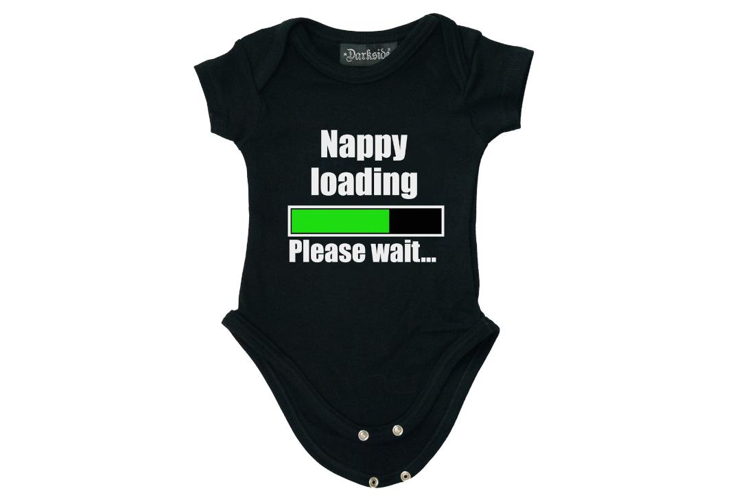 Darkside Clothing | Nappy Loading Baby Grow