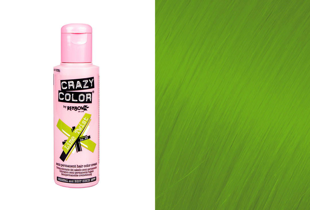 Renbow | Crazy Color Semi-Permanent Hair Colour (068 Lime Twist)