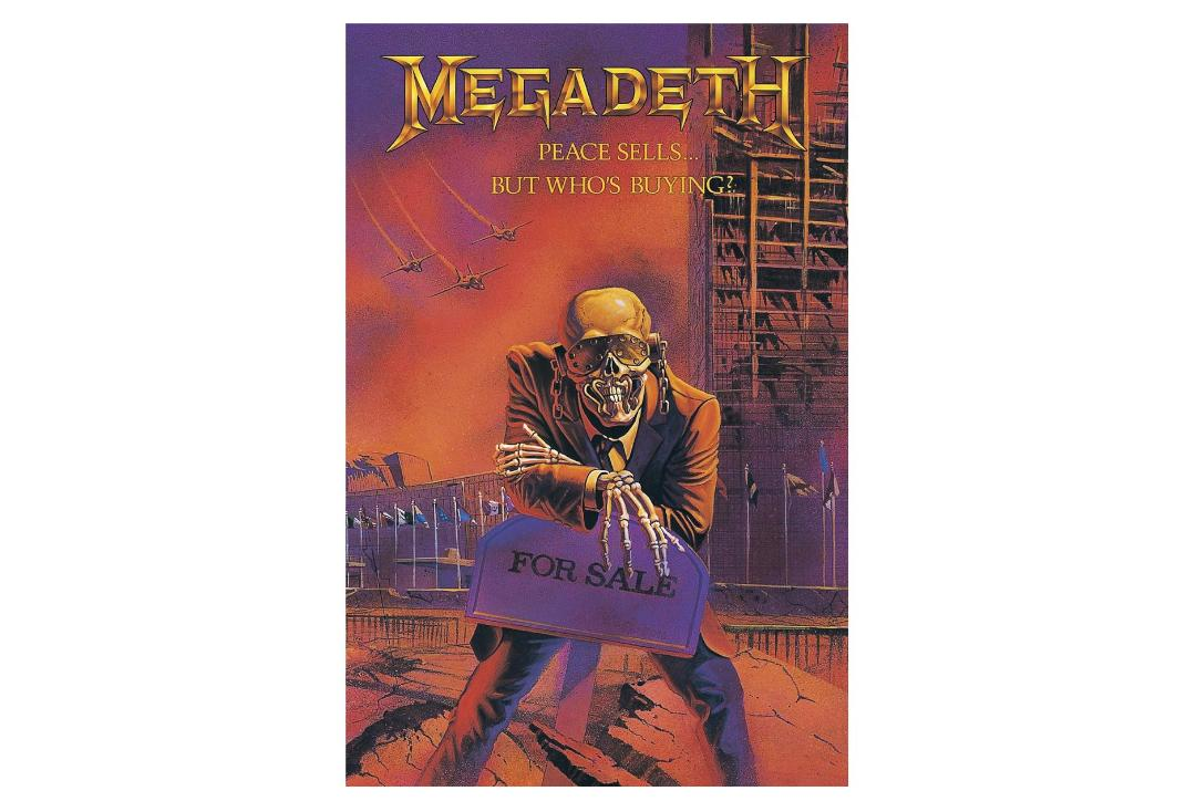 Official Band Merch | Megadeth - Peace Sells Printed Textile Poster