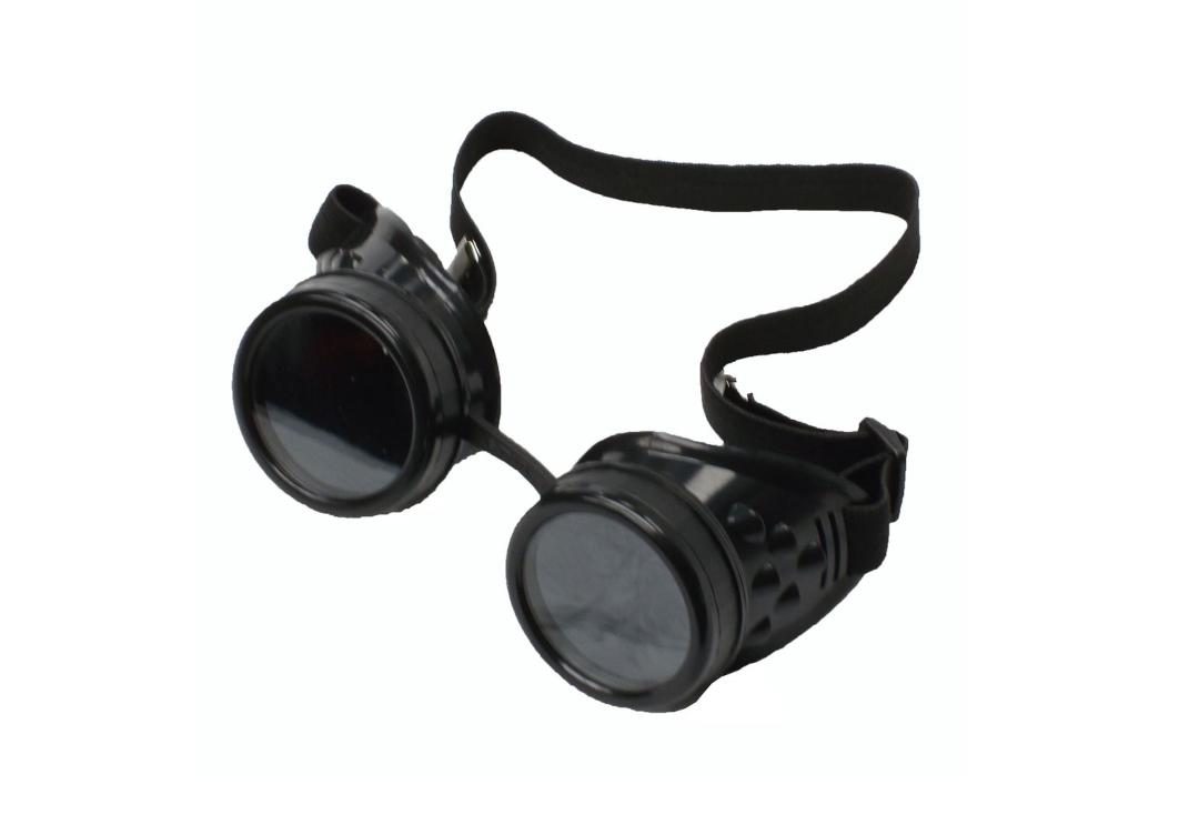 Void Clothing | Black Round Cyber Goggles