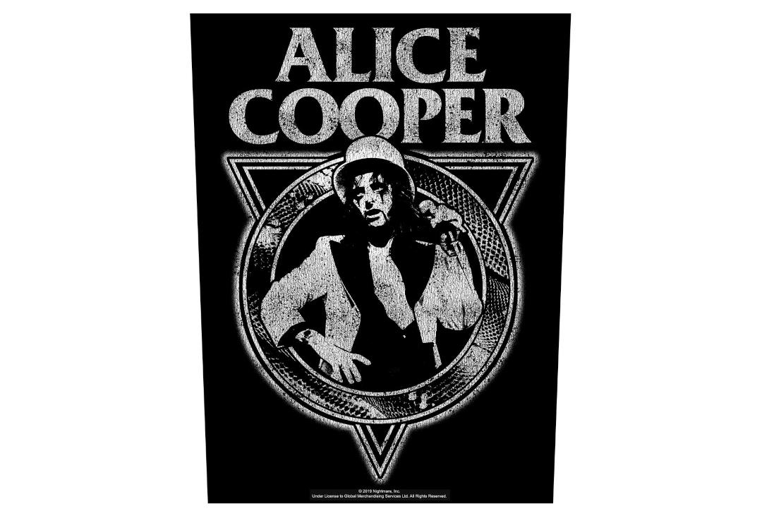 Official Band Merch | Alice Cooper - Snakeskin Printed Back Patch