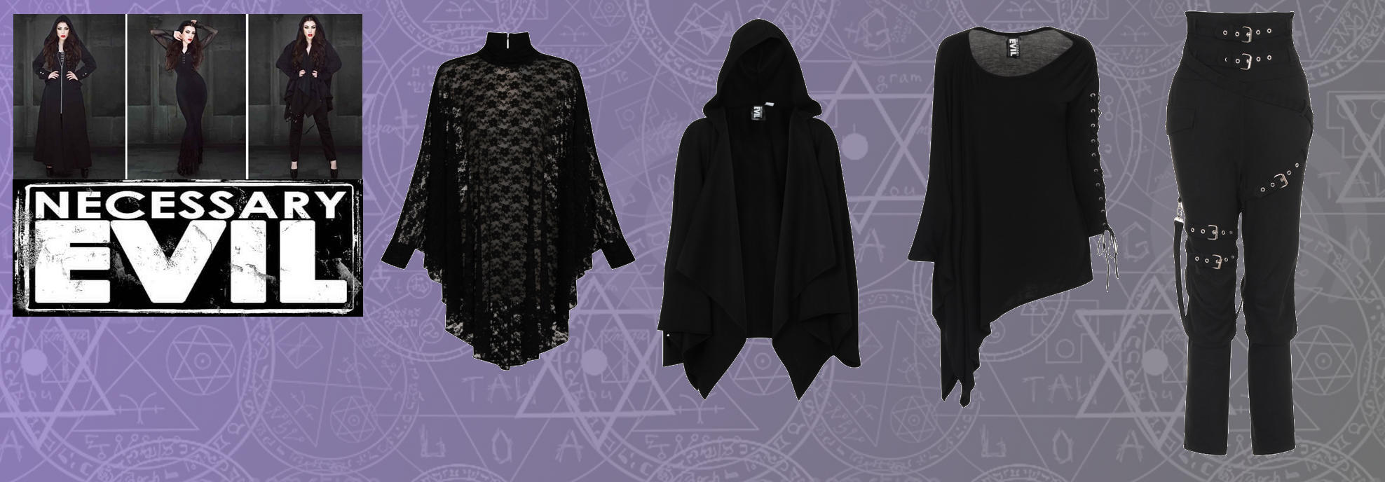 View Our Range Of Necessary Evil Items