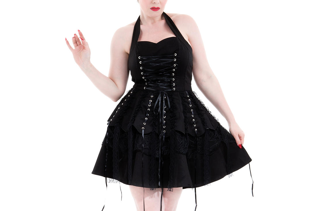Hearts & Roses | Black Laces 6420 Dress - Front