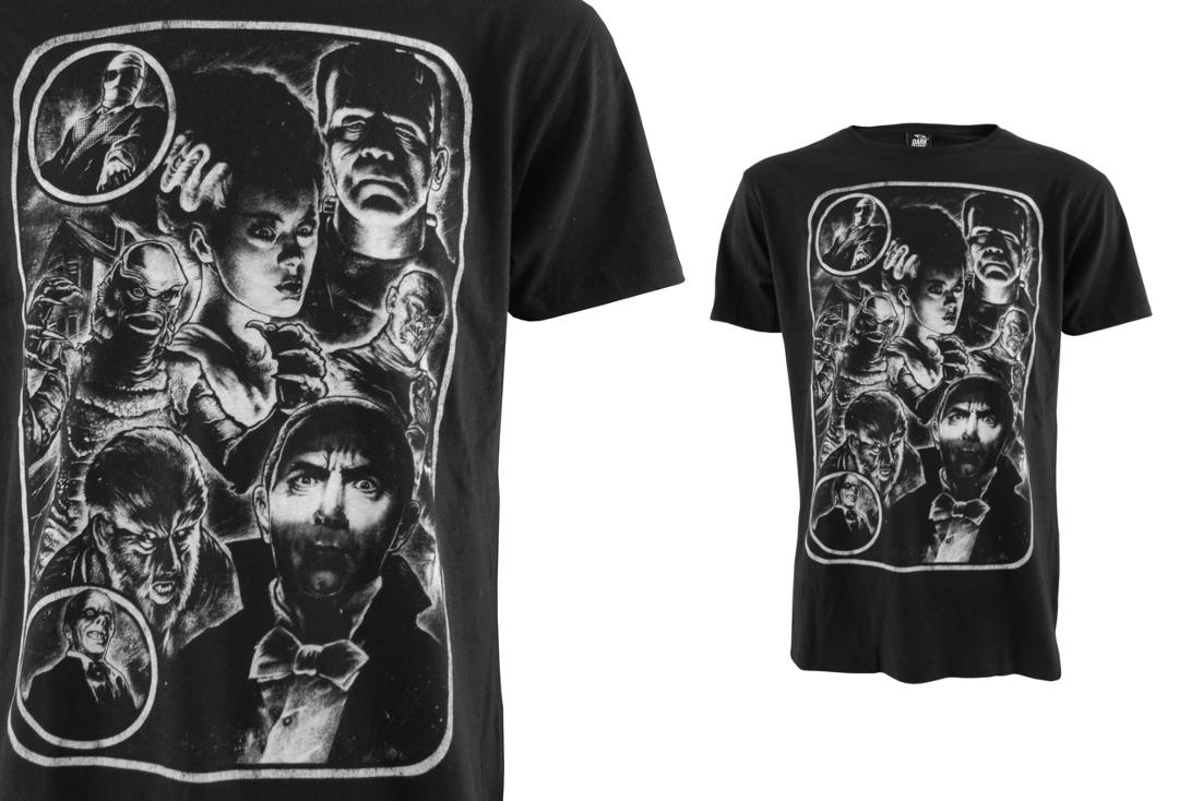 Darkside | Monster Mash Up Short Sleeve Men's T-Shirt - Collage