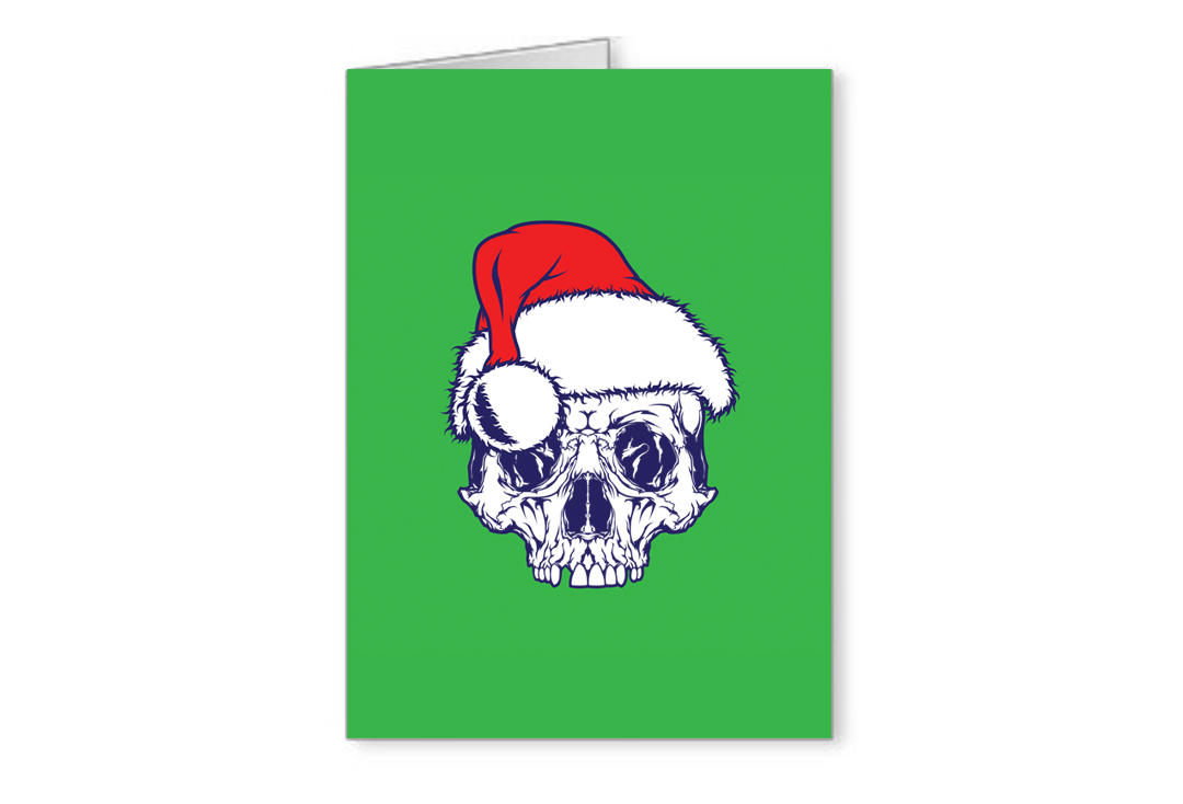 Void Clothing | Santa Skull Christmas Greetings Card