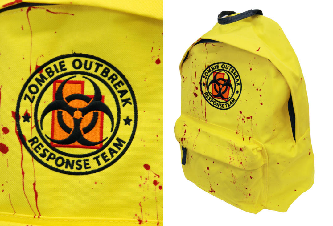 Darkside | Yellow Zombie Response Embroidered Darkside Backpack - Front