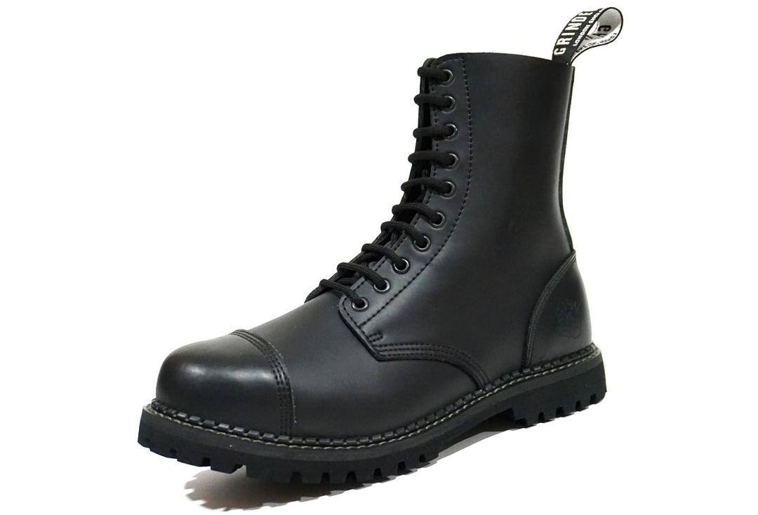 Grinders | Stag Men's Black Leather Boots