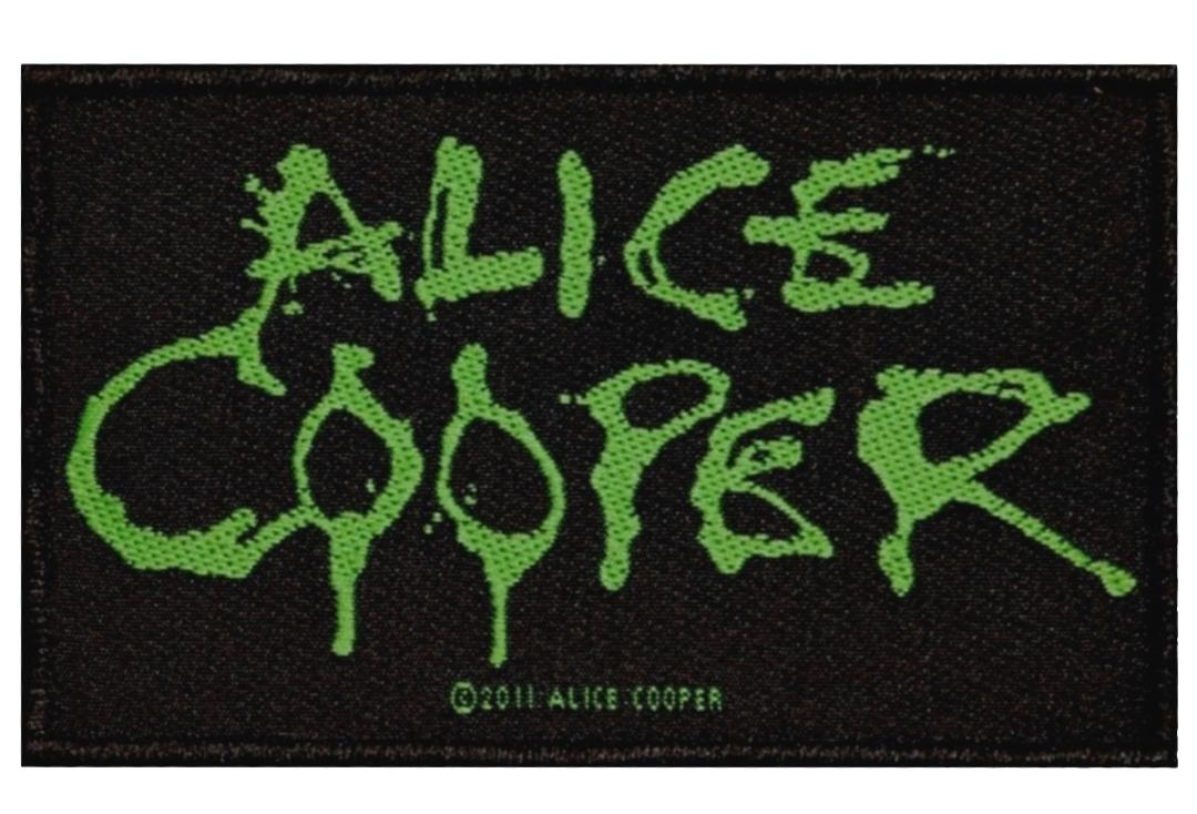 Official Band Merch | Alice Cooper - Logo Woven Sew On Patch