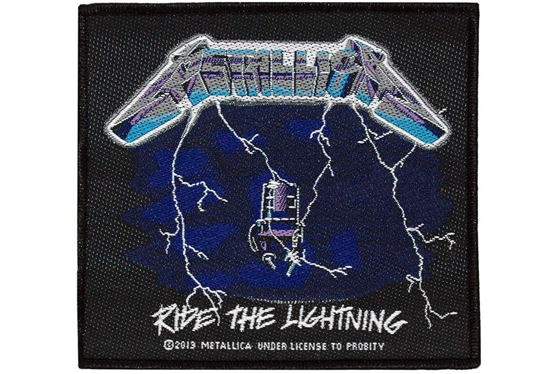Official Band Merch | Metallica - Ride The Lightning Woven Patch
