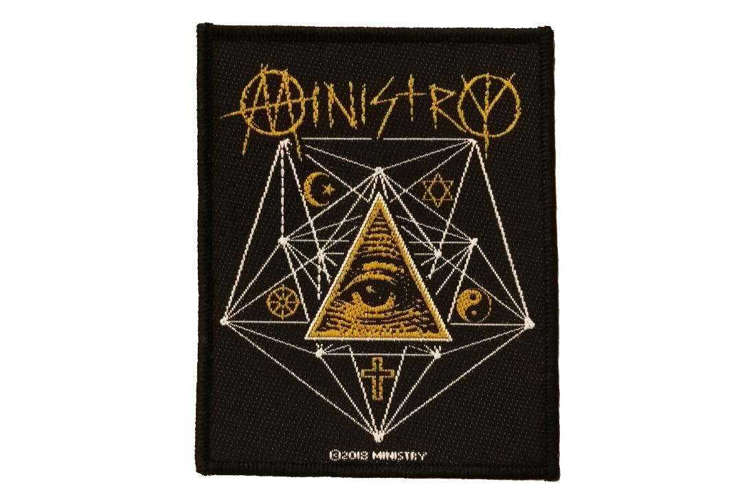 Official Band Merch | Ministry - All Seeing Eye Woven Patch