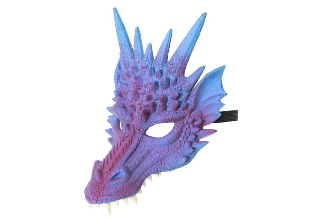 Void | Purple Dragon Half Face Mask - Side View
