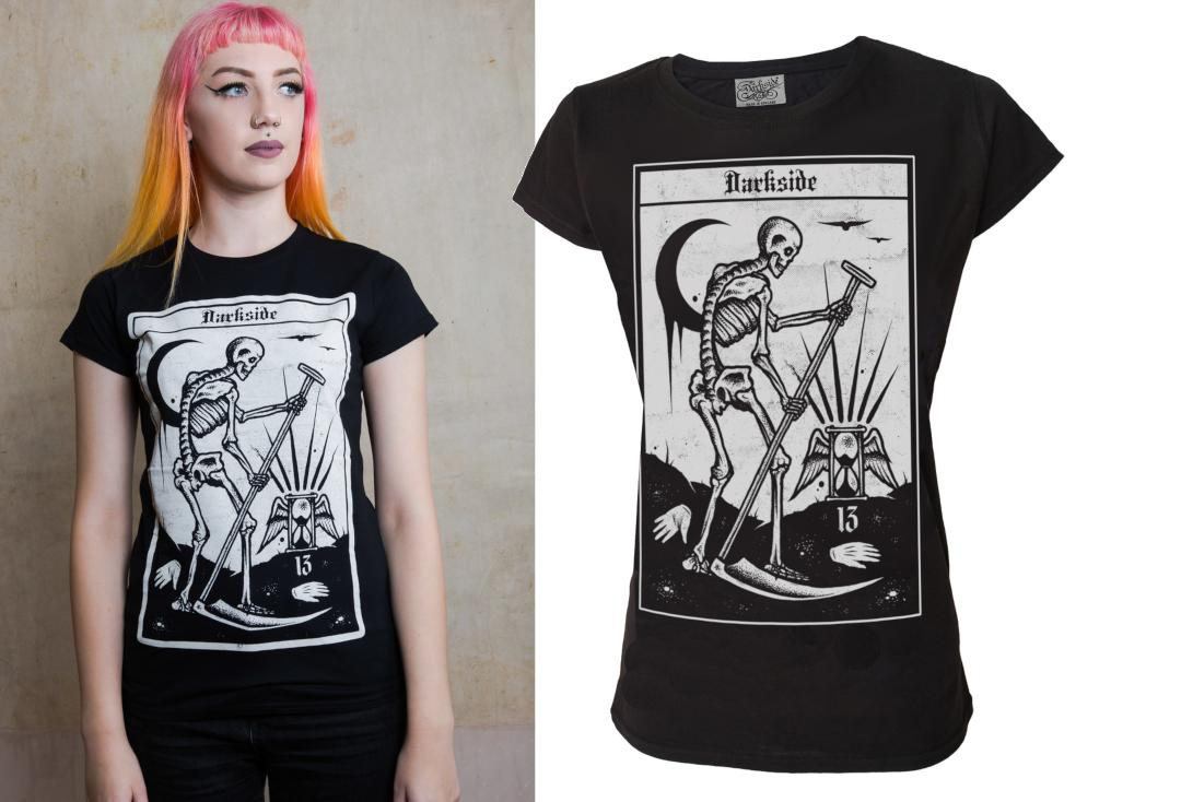 Darkside | Death Tarot Skinny Fit Women's T-Shirt