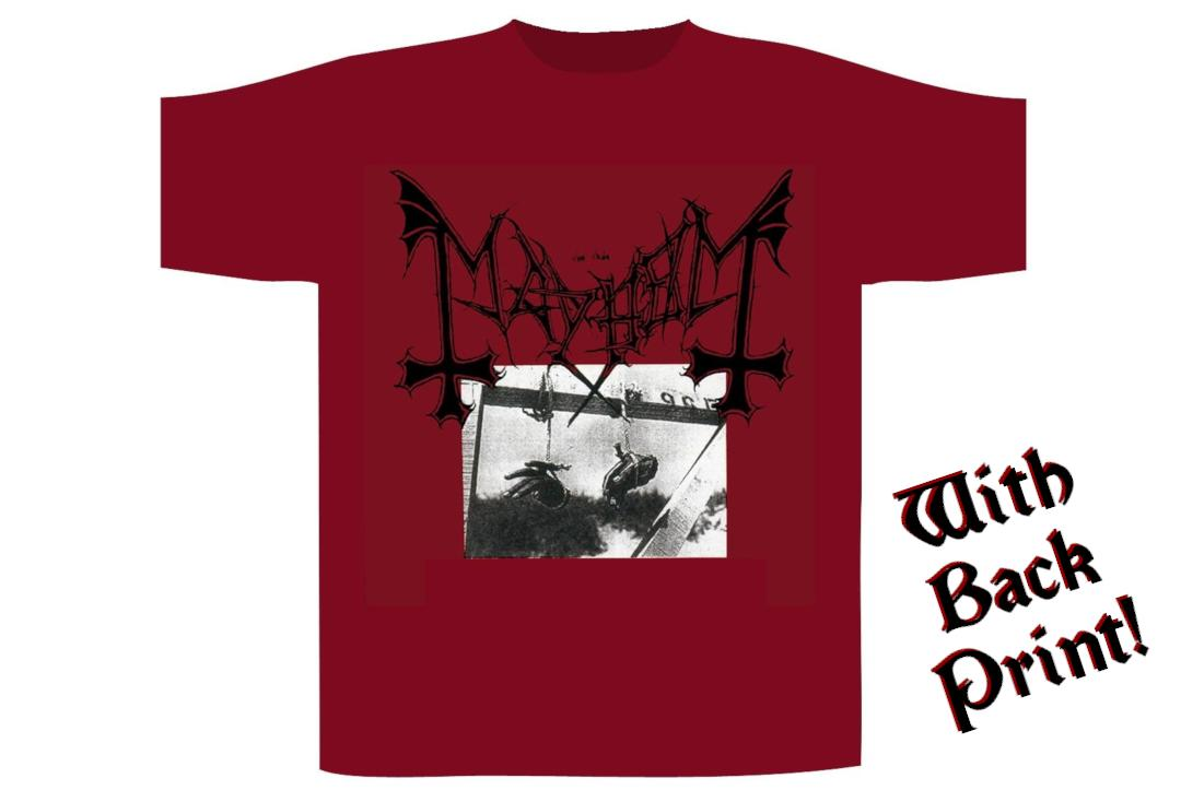 Official Band Merch | Mayhem - Red Deathcrush Men's Short Sleeve T-Shirt - Front View