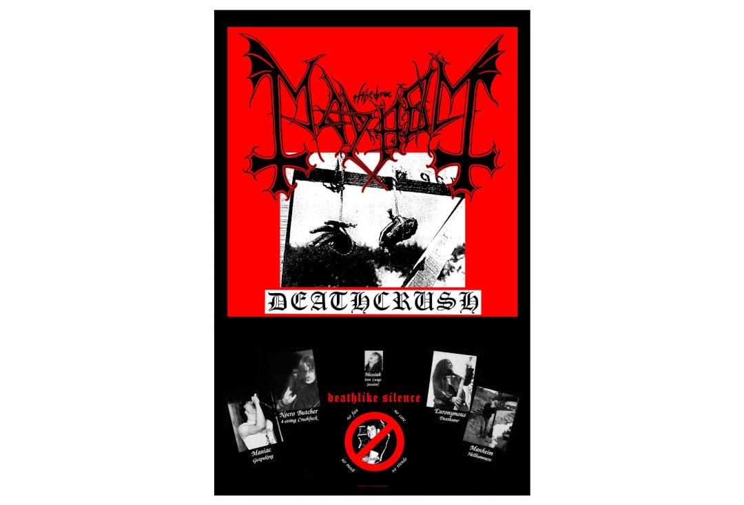 Official Band Merch | Mayhem - Deathcrush Printed Textile Poster