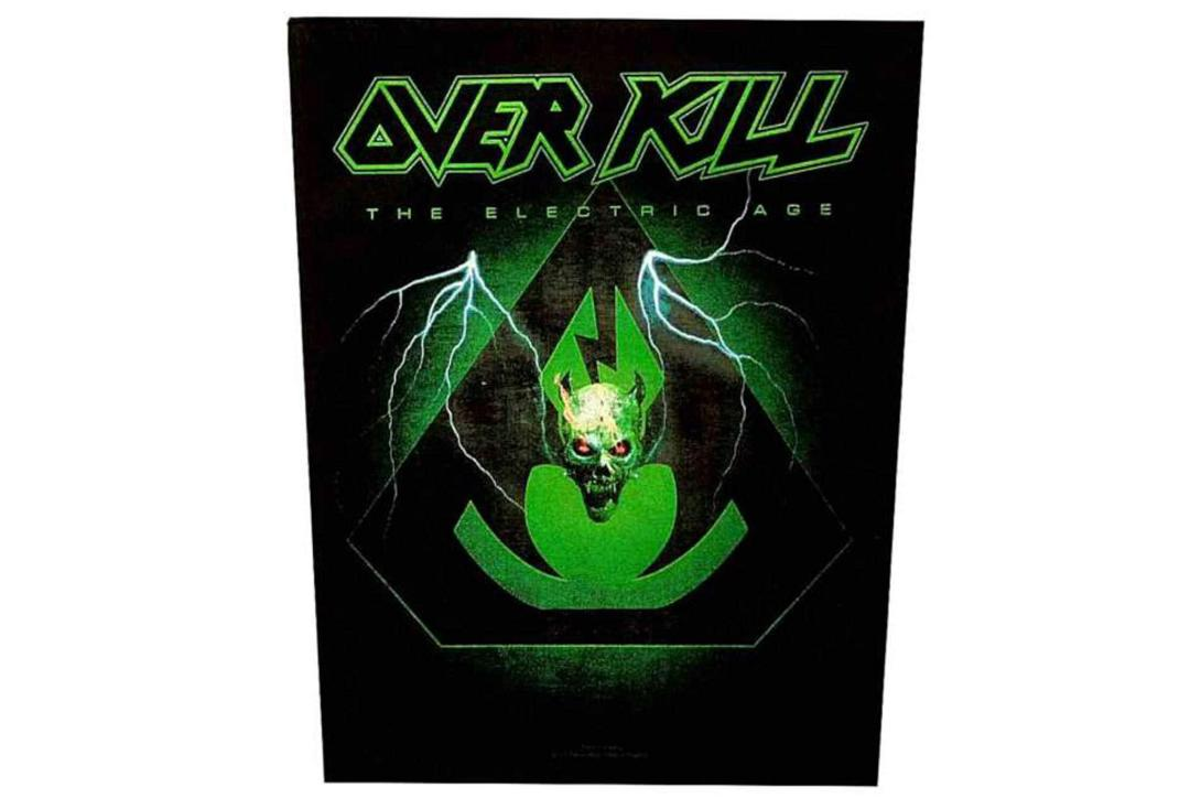 Official Band Merch | Over Kill - The Electric Age Printed Back Patch