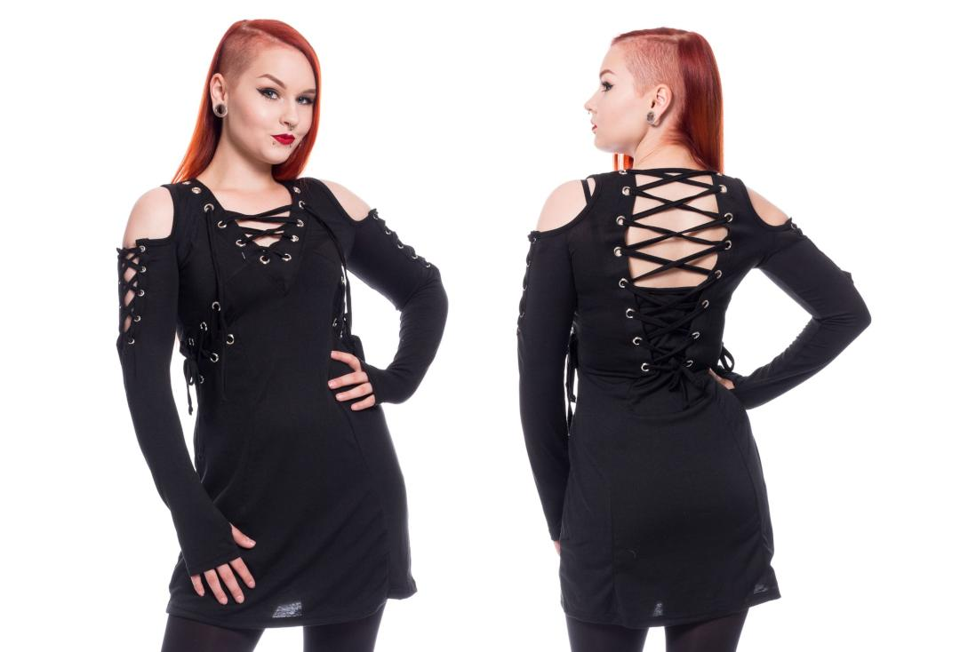Poizen Industries | Crave Lace Up Black Long Sleeve Top