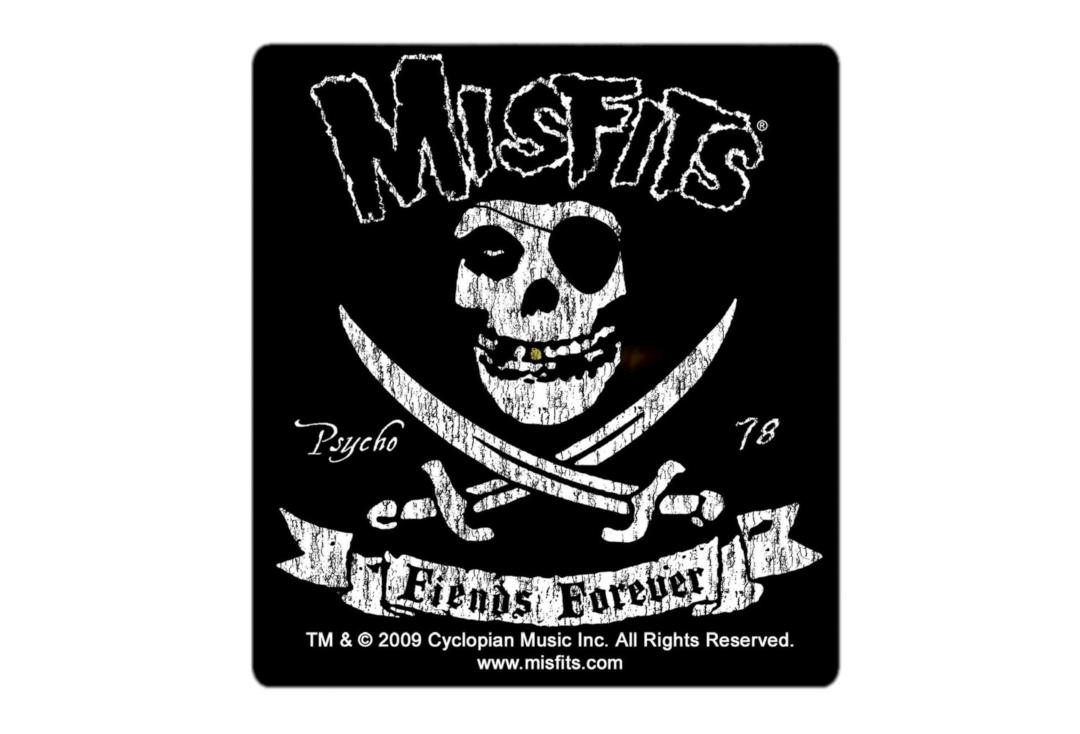 Official Band Merch | Misfits - Fiends Forever Vinyl Sticker