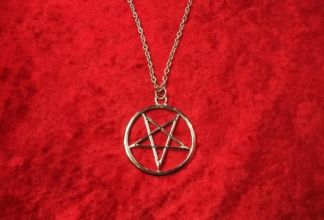 Void Clothing | Large Inverted Pentacle Pendant - Close Up