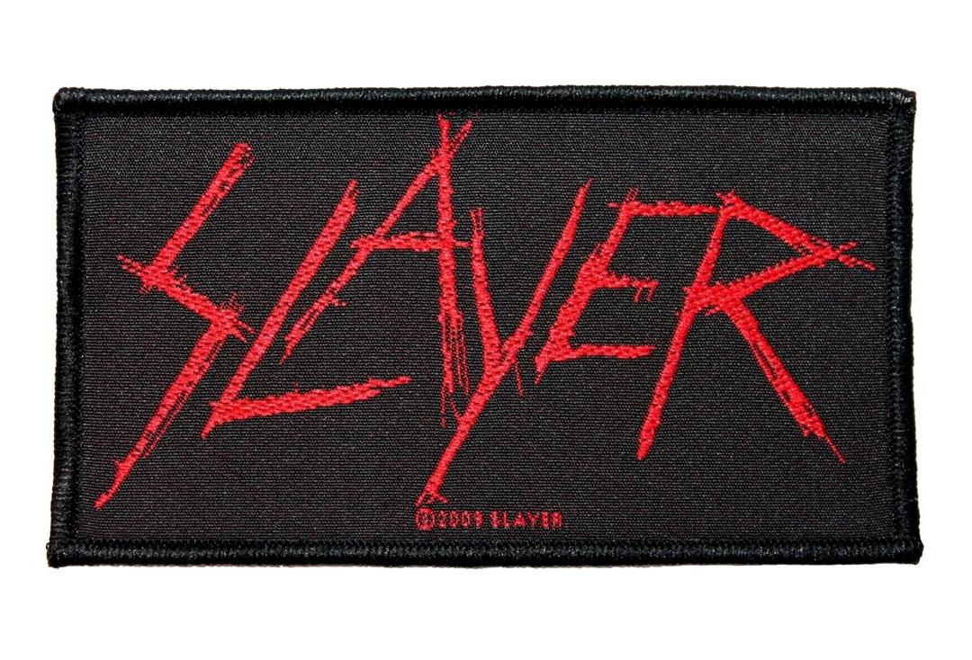 Official Band Merch | Slayer - Scratched Logo Woven Patch