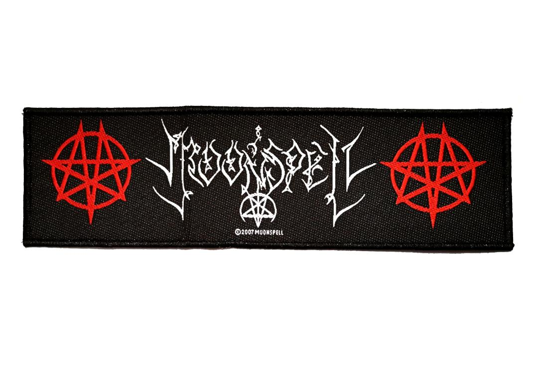 Official Band Merch | Moonspell - Logo & Moongrams Woven Super Strip Patch