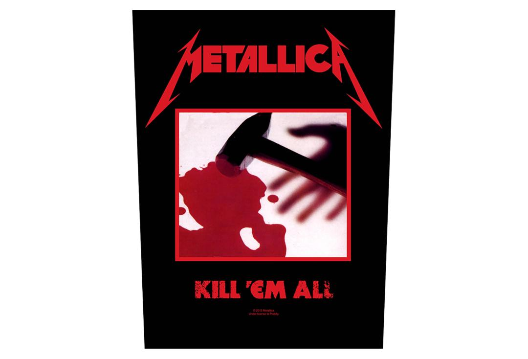 Official Band Merch | Metallica - Kill 'Em All Printed Back Patch
