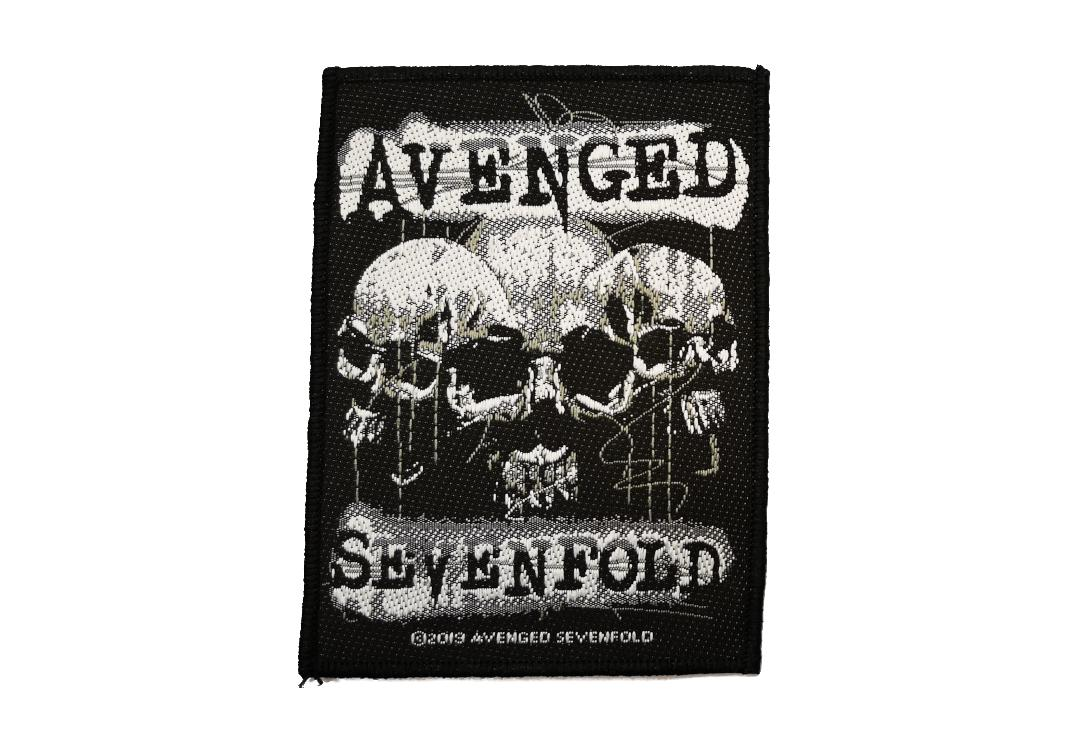 Official Band Merch | Avenged Sevenfold - Three Skulls Woven Patch