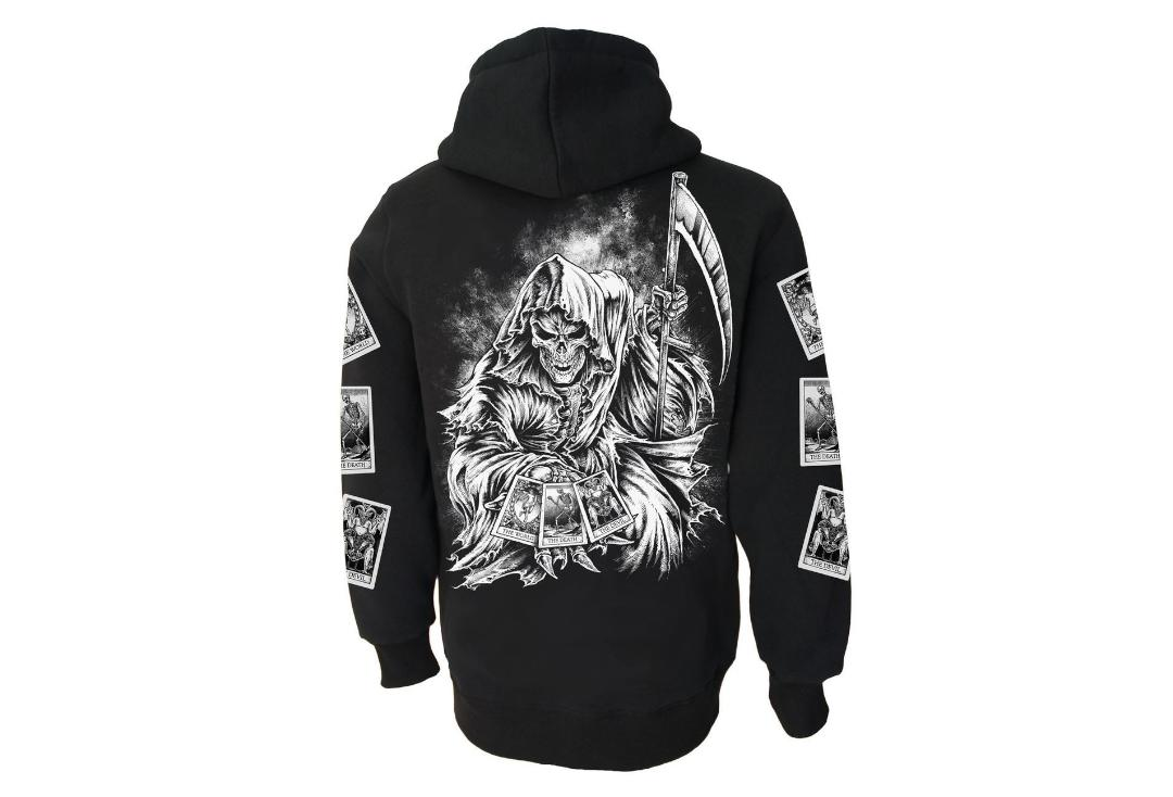 Darkside Clothing | Tarot Reaper Unisex Zip Hood - Back