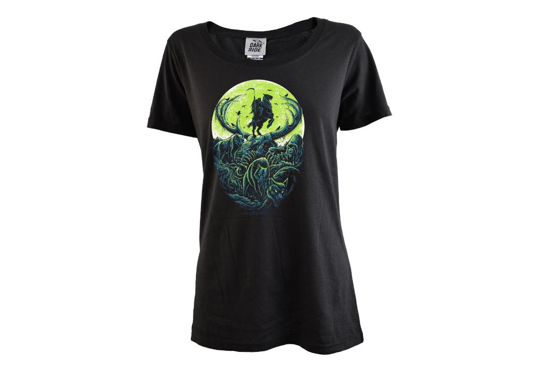 Darkside Clothing | Moonlit Reaper Scoop Neck Loose Fit Women's T-Shirt