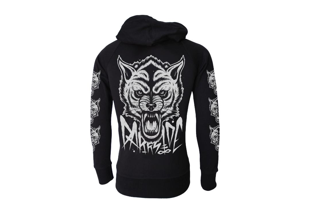 Darkside Clothing | Wolf Lightweight Cotton Unisex Zip Hood - Back