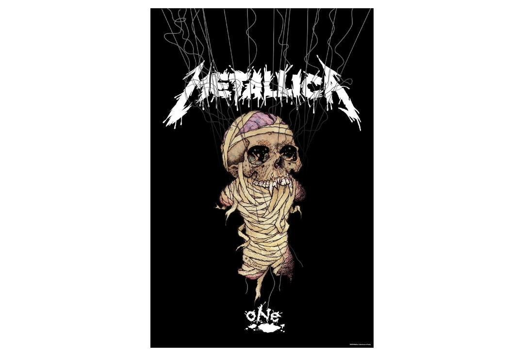 Official Band Merch | Metallica - One Printed Textile Poster