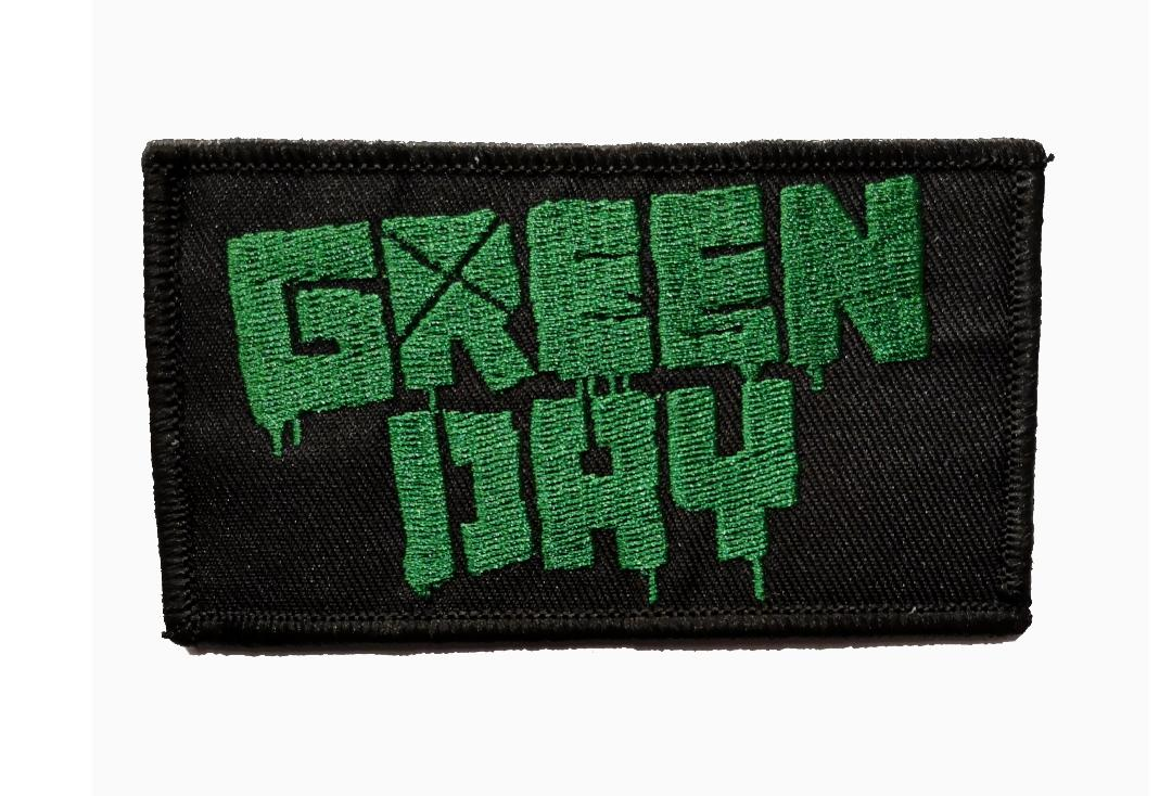 Official Band Merch | Green Day - Green Logo Woven Patch