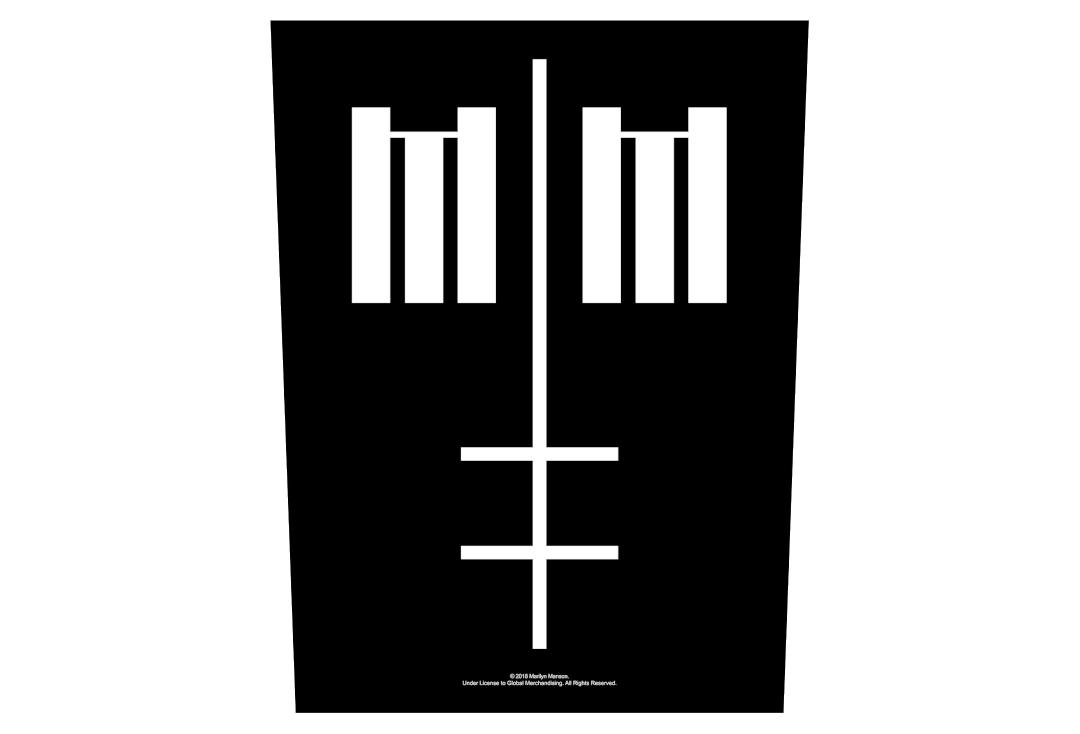 Official Band Merch | Marilyn Manson - Cross Logo Printed Back Patch