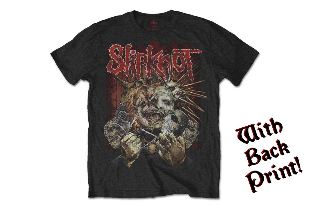 Official Band Merch | Slipknot - Torn Apart Men's Short Sleeve T-Shirt - Front
