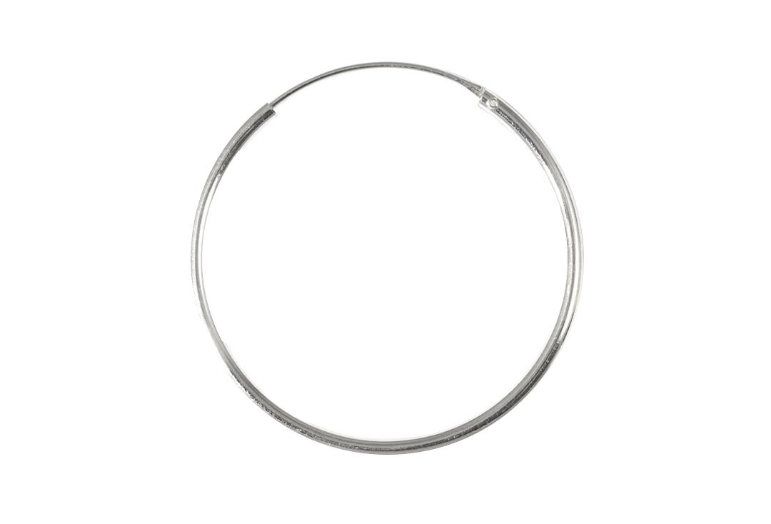 Body Jewellery | Sterling Silver Hinged Hoop Medium Gauge