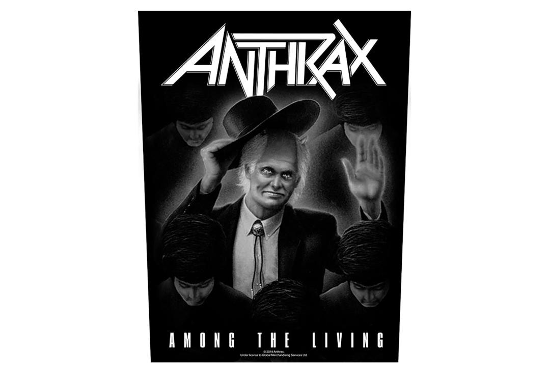 Official Band Merch | Anthrax - Among The Living Printed Back Patch