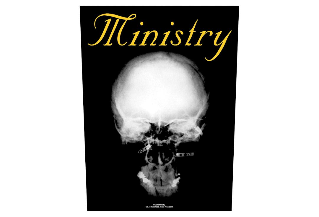 Official Band Merch | Ministry - The Mind Is A Terrible Thing To Waste Printed Back Patch