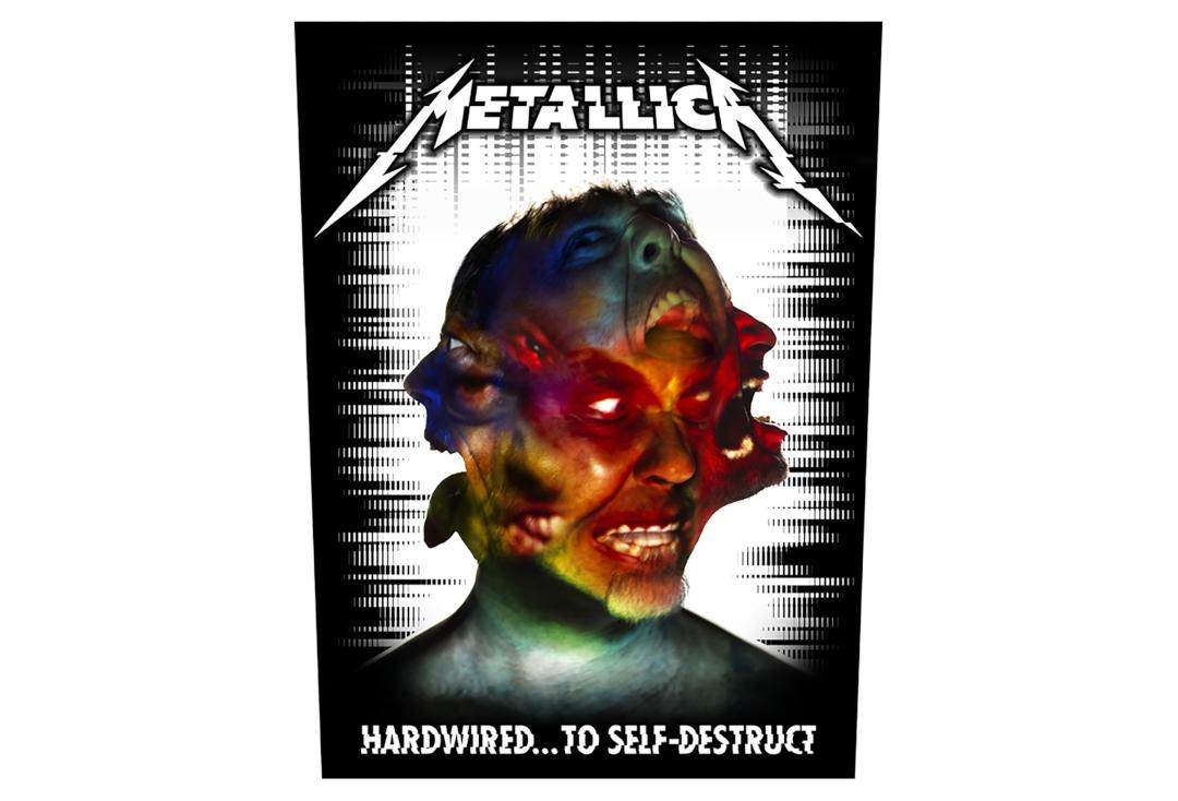 Official Band Merch | Metallica - Hardwired To Self Destruct Printed Back Patch