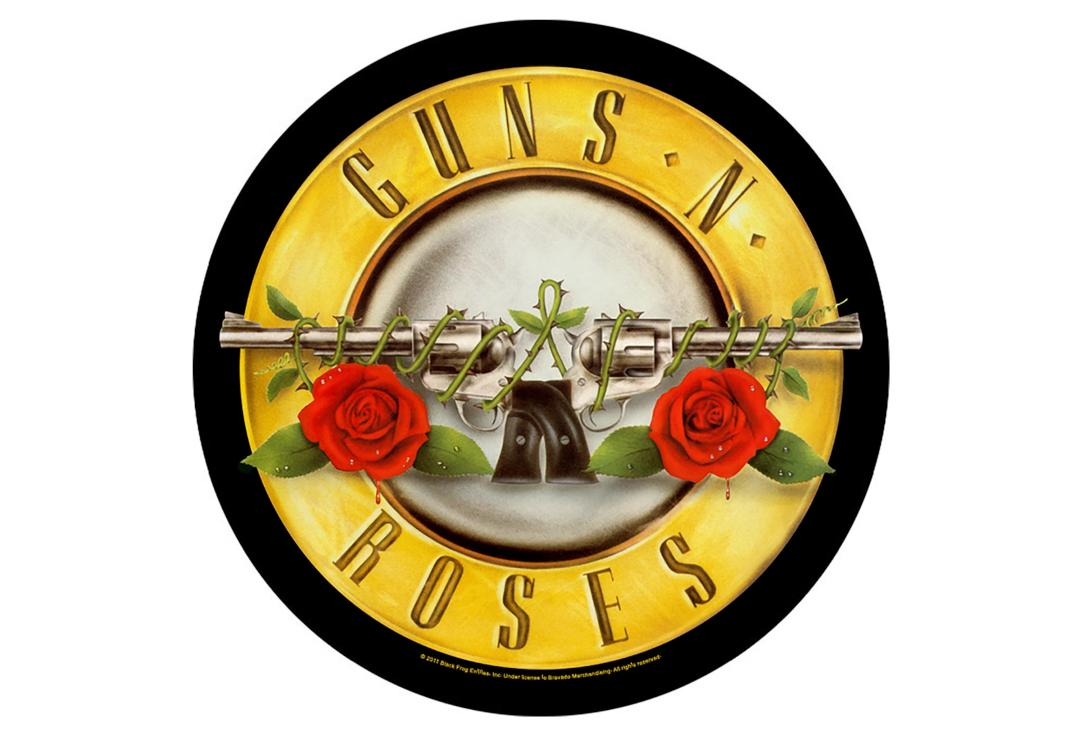 Official Band Merch | Guns N' Roses - Bullet Logo Printed Back Patch
