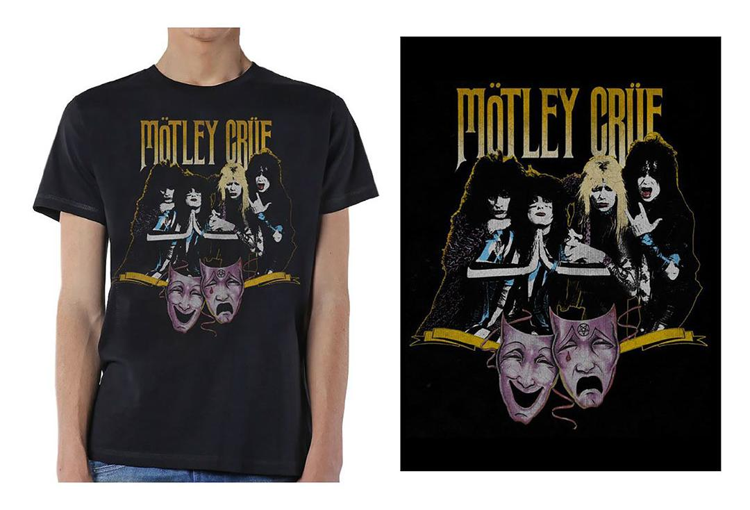 Official Band Merch | Motley Crue - Theatre Vintage Men's Short Sleeve T-Shirt
