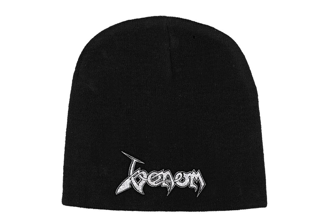 Official Band Merch | Venom - Logo Embroidered Knitted Beanie Hat