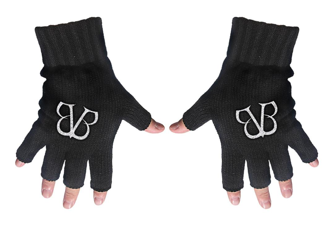 Official Band Merch | Black Veil Brides - BVB Logo Embroidered Knitted Finger-less Gloves