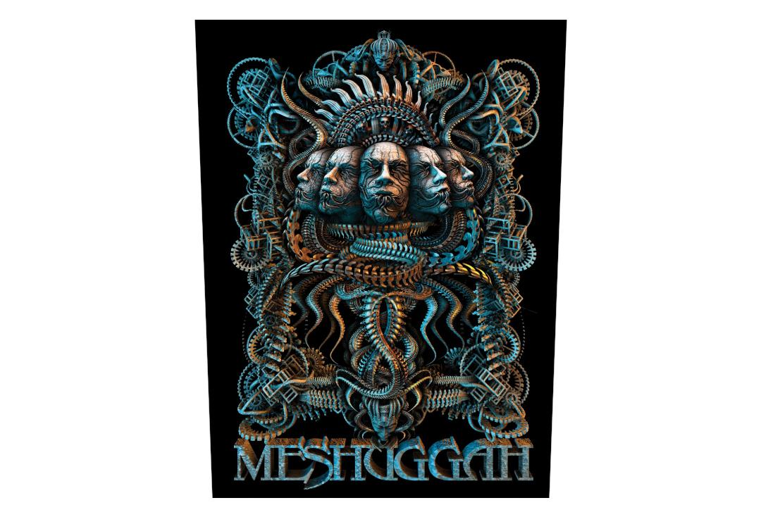 Official Band Merch | Meshuggah - 5 Faces Printed Back Patch