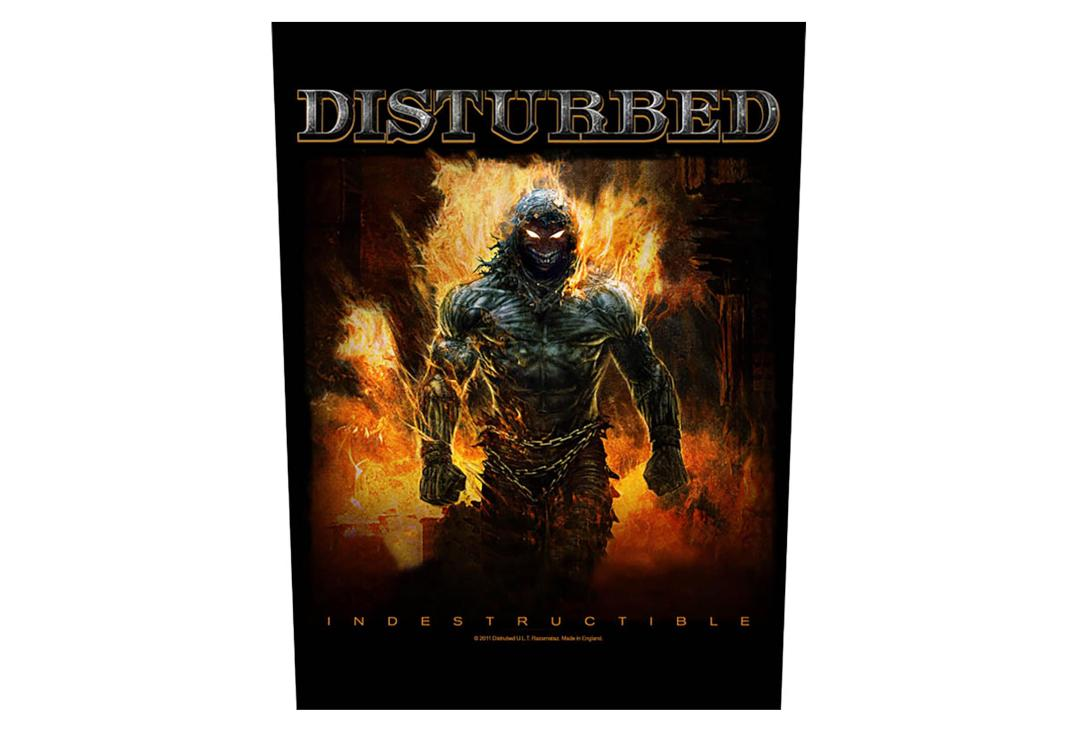 Official Band Merch | Disturbed - Indestructible Printed Back Patch